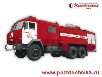 KAMAZ AKT-6/1000-80/20 Avtomobil kombinirovannogo tusheniya   itfaiye aracı