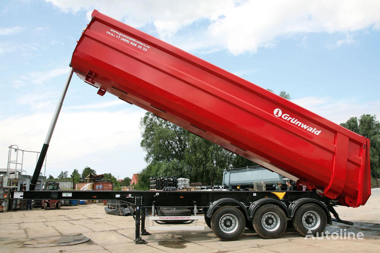 yeni GRUNWALD Tipper semitrailer 50 cbm yarı römork damperli kamyon