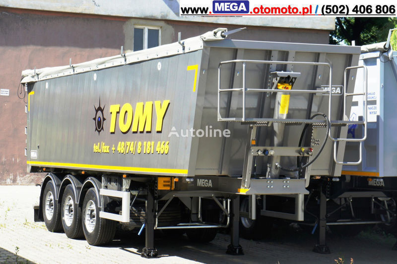 yeni MEGA 42 m³ - Alum. Kipper SUPER-LEICHT - 5,750 KG & TUREN - BEREIT ! yarı römork damperli kamyon