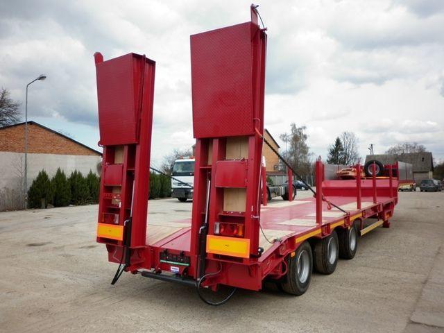yeni JANMIL  WABCO with ramps 30000 kg  yarı römork lowbed treyler