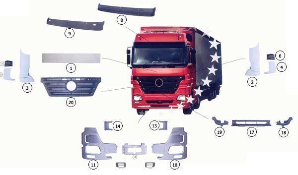 yeni MERCEDES-BENZ ACTROS MP2 kamyon için 9437500518 kaput