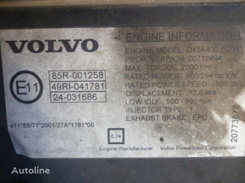 VOLVO kamyon için Volvo D13A400 EC01 motor