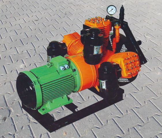 V3.16 tłokowy z silnikiem elektrycznym tanker yarı römork için pinömatik kompresör