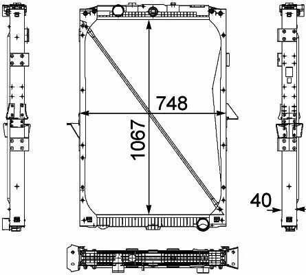 yeni DAF XF95.105XF kamyon için 1674136. 1692332. 1739550 .1856628. 8MK376 733-7111861737. 1861737R radyatör