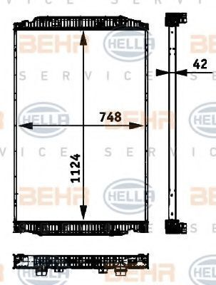 yeni IVECO STRALIS kamyon için BEHR HELLA.NISSENS.VALEO.NRF 41214447.8ML376 724-251.41214448.8MK376 721-741.NIS 63329A. radyatör