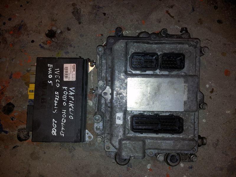 IVECO STRALIS tır için IVECO EURO5 450PS ECU 0281020048 engine computer EDC set (EDC, VCM - ELECTRONIC, chip), ignition set, 4462700020, 504122542 yönetim bloğu