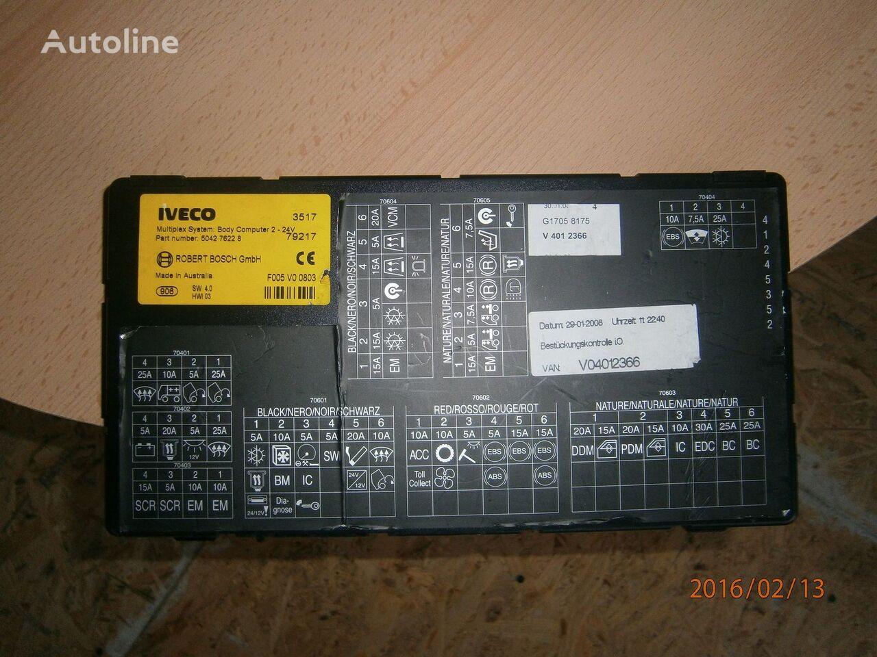 IVECO Stralis tır için Iveco Stralis EURO5 Multiplex system body computer 504276228 yönetim bloğu