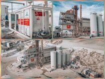 Stok sahası Alfamix Asfalt Makinaları