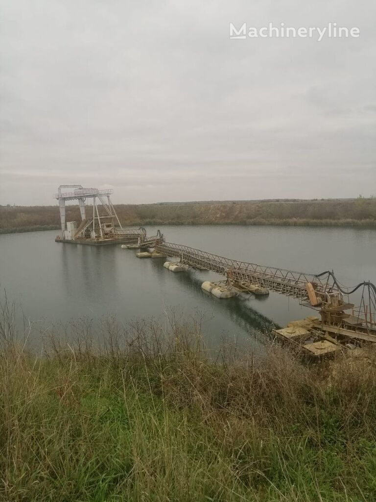 floating dredge plant -sistem dragare cu pod rulant elekli kova