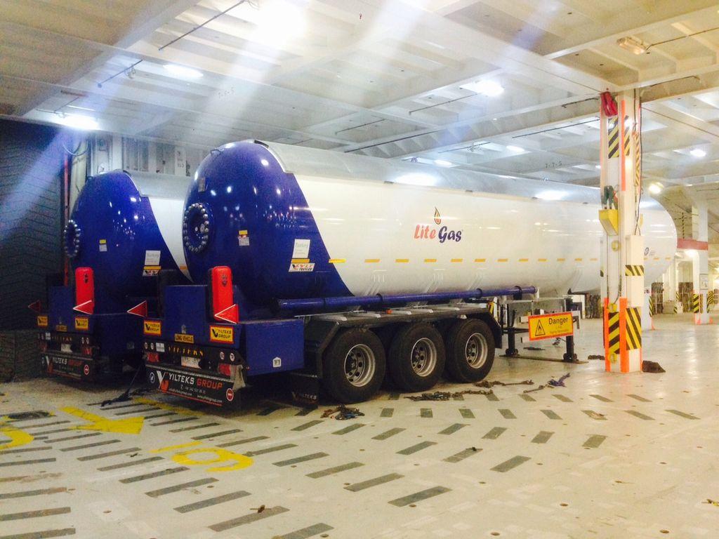yeni YILTEKS Semi Trailer LPG Tank 57m3 gaz tankeri