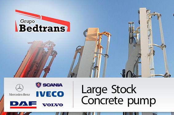 PUTZMEISTER THE BEST STOCK THE CONCRETE PUMPS IN SPAIN BEDTRANS beton pompası