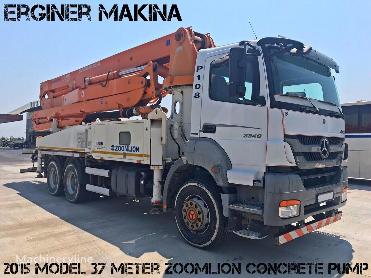 MERCEDES-BENZ 2015 MODEL 3340 MERCEDES 37 METRE ZOOMLİON PUMP şaside Zoomlion  beton pompası