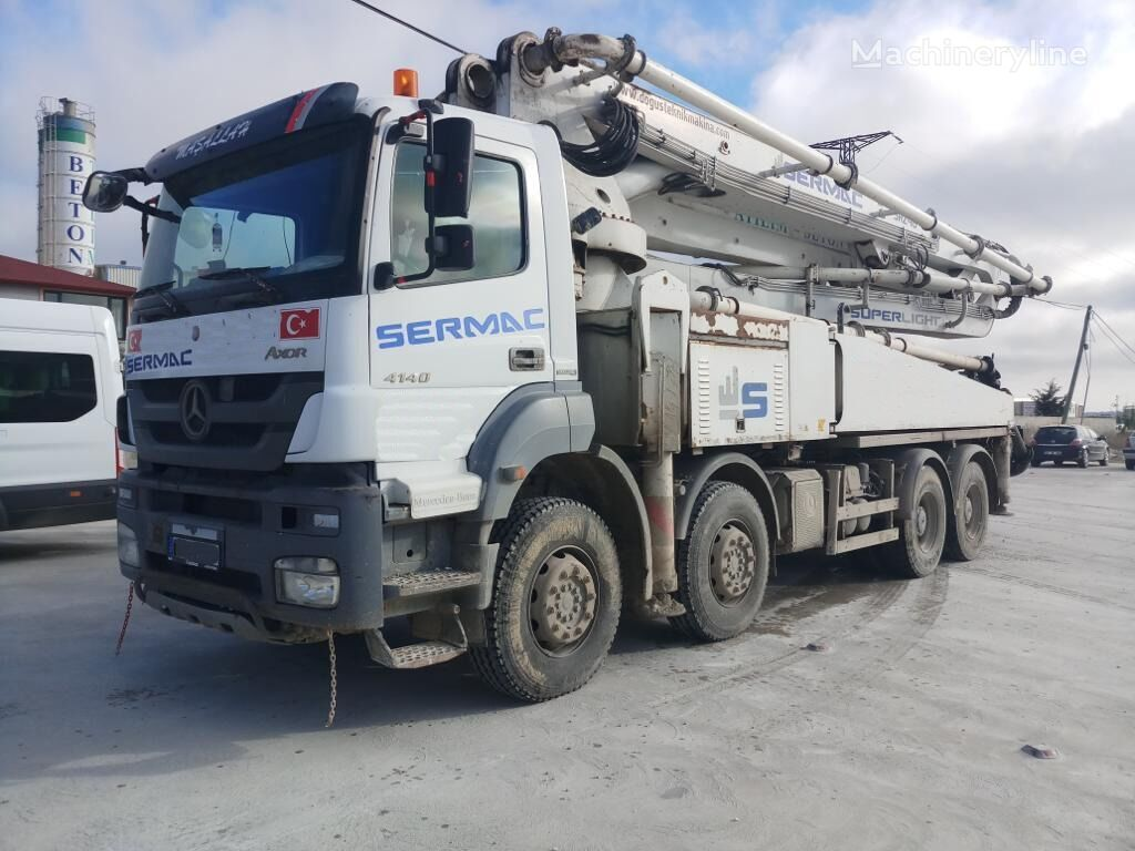 MERCEDES-BENZ  46 METER SERMAC CONCERET PUMP 4140 MERCEDES TRUCKS  beton pompası