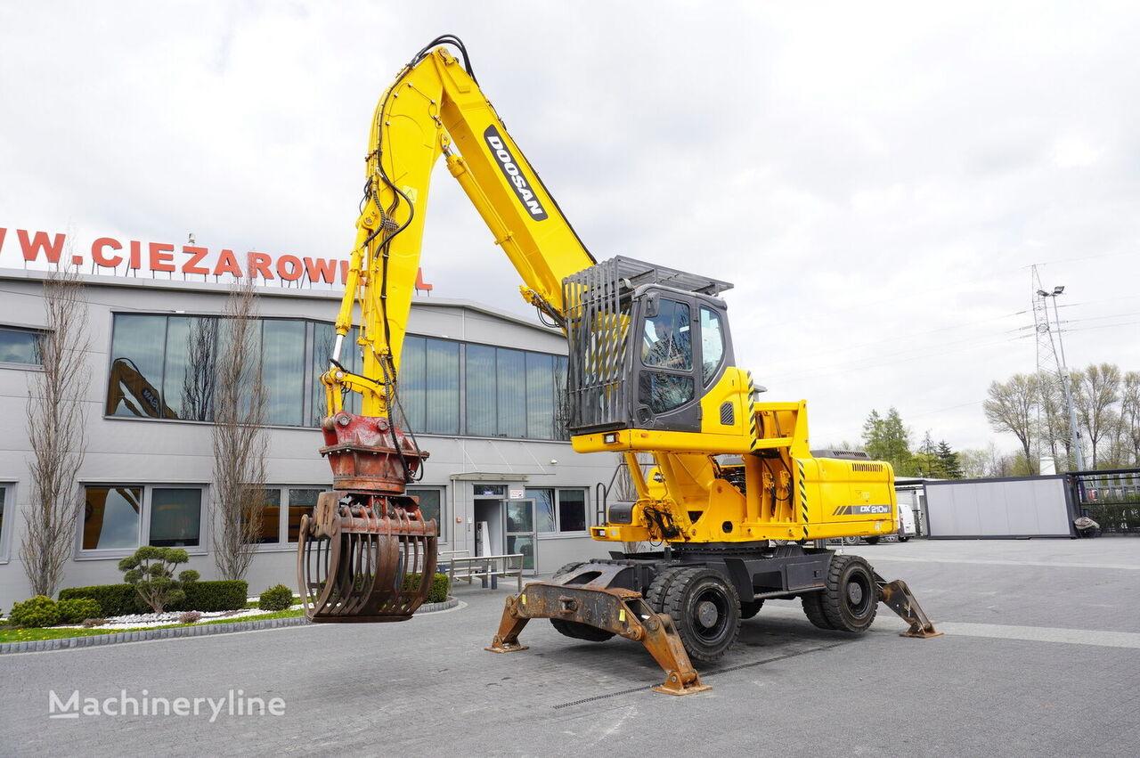 DOOSAN DX210 WMH , 22.5t , Material handler , lift cab , rotator , grap tekerlekli ekskavatör