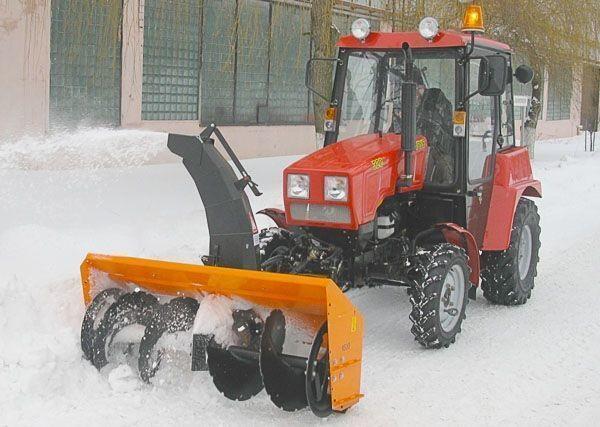 MTZ Shneko-rotornyy na MTZ 320 kar temizleme makinası