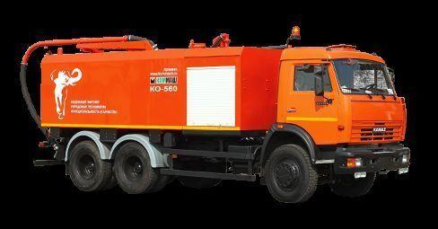 KAMAZ KO-560 kombine kanal temizleme aracı