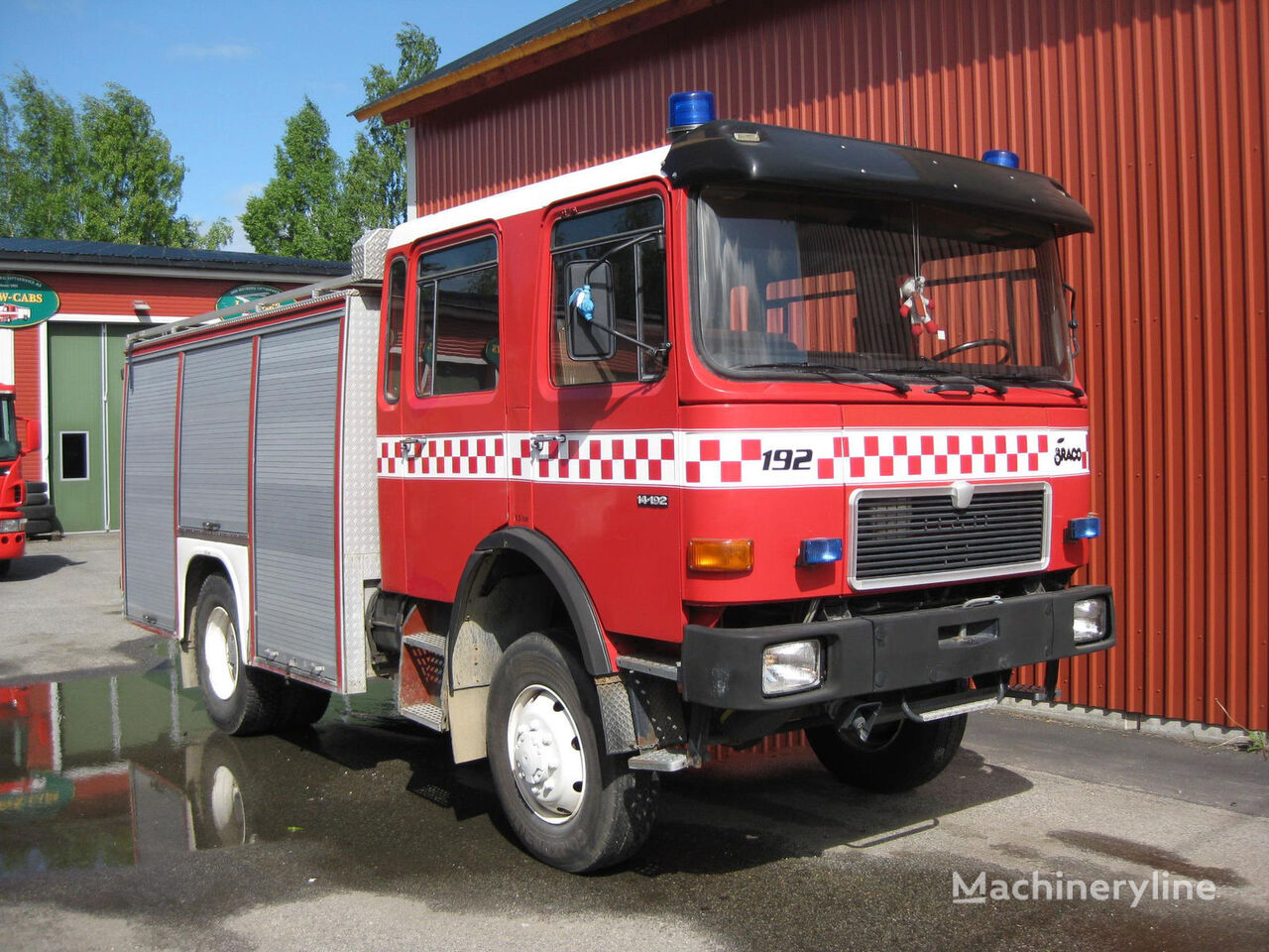 MAN 14-192, 4x4 WD yangın tankeri kamyonu