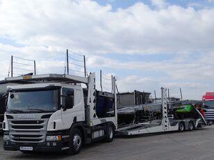 SCANIA P 410 / AUTOTRANSPORTER / ROLFO EGO 4 + ROLFO DYNAMIC 7/ RETARDE araba taşıyıcı + araba taşıyıcı römork