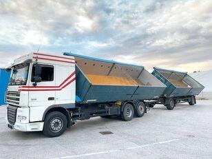 DAF  FAR XF105.460  6x2 3 old Billencs Szerelvénnyel damperli kamyon