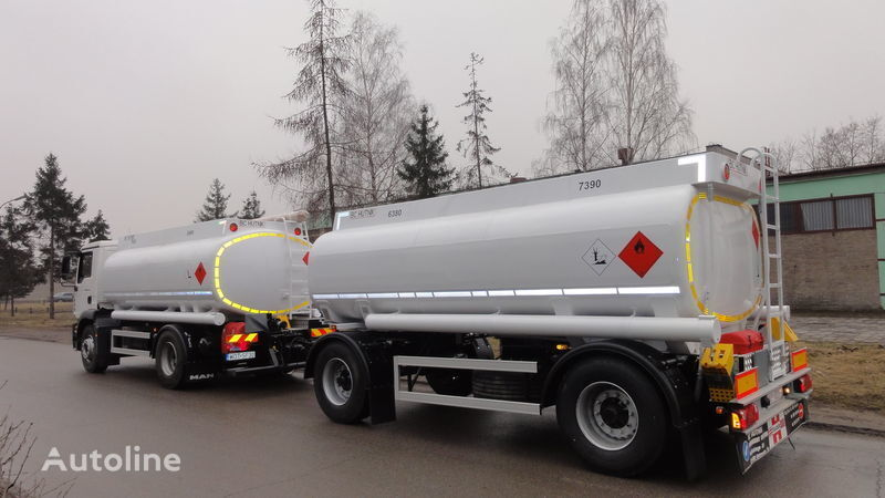 yeni SCANIA DAF,MAN,VOLVO,MB kamyon benzin tankeri + römork tenteli