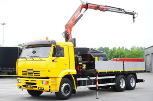 KAMAZ 65117 , 6x4 , Crane Fassi 95 , rotator , box 6m kamyon kasa dorse