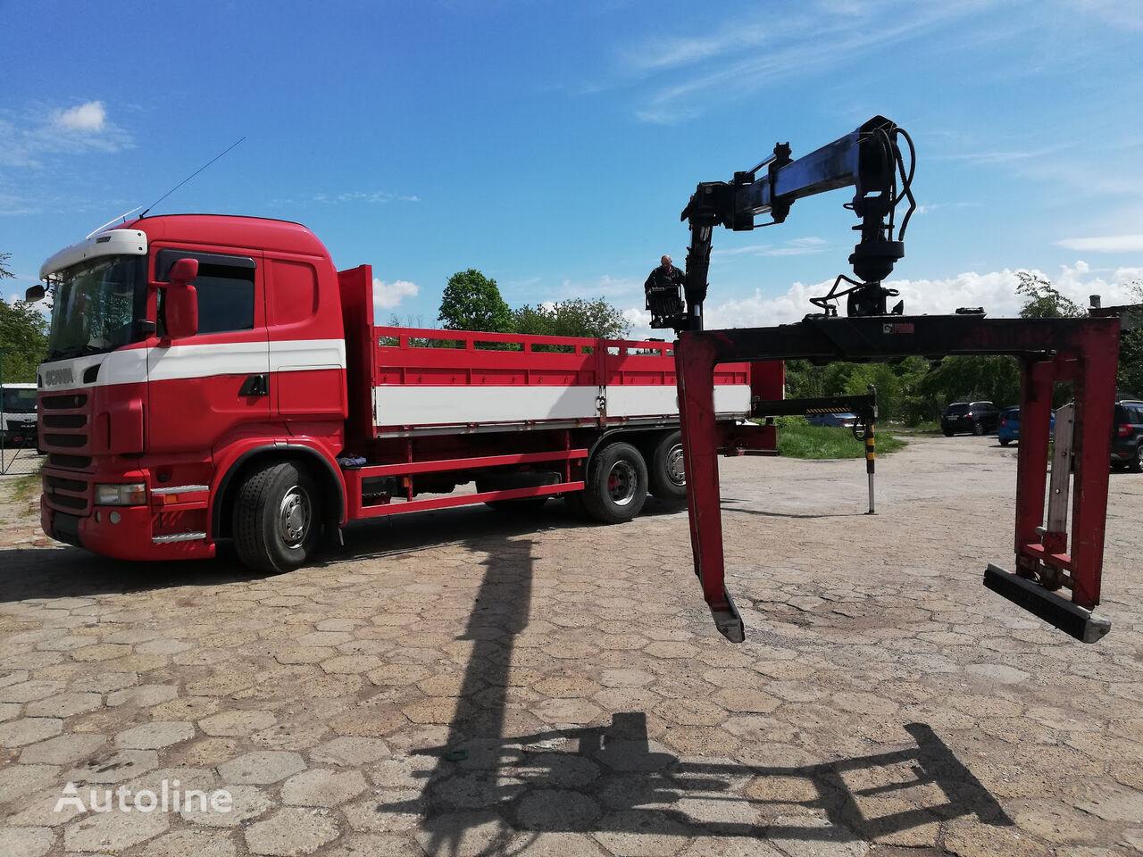 SCANIA R400 6x2 EURO5 PRITSCHE MIT KRAN HIAB kamyon kasa dorse