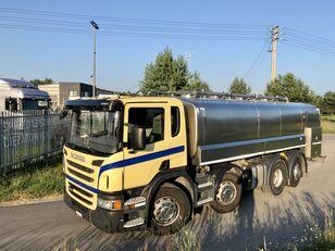SCANIA P 400 KM 8x2 Beczka Do Mleka Sprowadzona Ze Szwajcarii kamyon süt tankeri