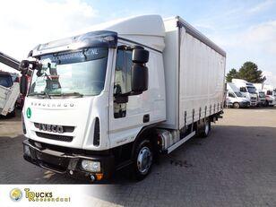 IVECO Eurocargo 80EL21 Manual + Euro 6 + Dhollandia Lift kayar perdeli kasalı kamyon