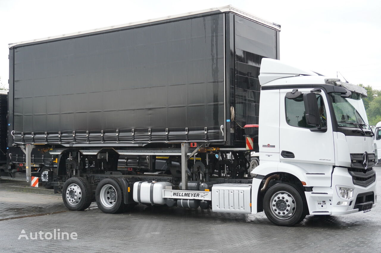 MERCEDES-BENZ Antos 2543 E6 6x2 BDF / Wilhelm Wellmeyer / lifting frame + fift konteyner taşıyıcı kamyon