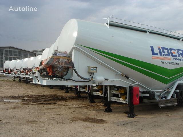yeni LIDER NEW ciment remorque 2017 YEAR (MANUFACTURER COMPANY) tanker çimento kamyonu