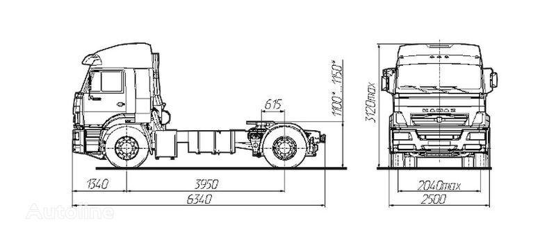 KAMAZ Sedelnyy tyagach KAMAZ-5460 tır