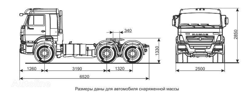 KAMAZ Sedelnyy tyagach KAMAZ-65116 (6h4) tır