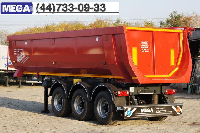 yeni KARGOMIL 25 - 28 m³ HALF-PIPE / steel tipper - DOMEX 5/7 mm / SUPER STRON yarı römork damperli kamyon