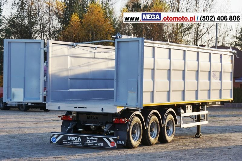 yeni MEGA 10,4 M(L) / 50 M³ DOMEX/OPTIM 650 TIPPER - SCRAP DOOR - READY ! yarı römork damperli kamyon