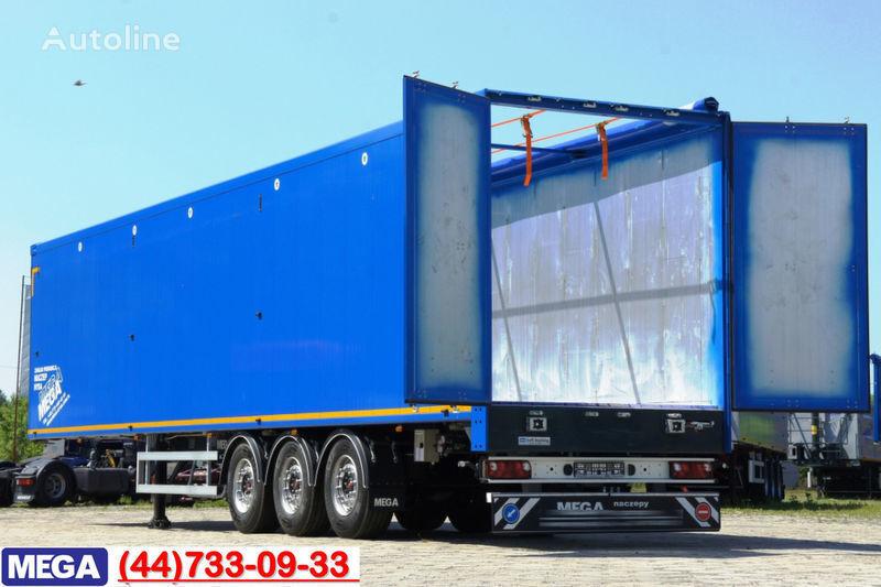 yeni MEGA 13 m (L) - 89 M³ CARGO-FLOOR FUR MULE = BEREIT = yarı römork damperli kamyon