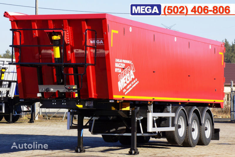 yeni MEGA 45 m³ - alum. tipper SUPER-LIGHT - 5,300 KG & hatch door - READY yarı römork damperli kamyon