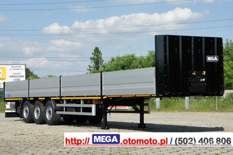 yeni MEGA MNS 22,5 - PLATFORM & ALUSIDES 800 MM /  STRONG  FRAME DOMEX650 yarı römork kasa dorse