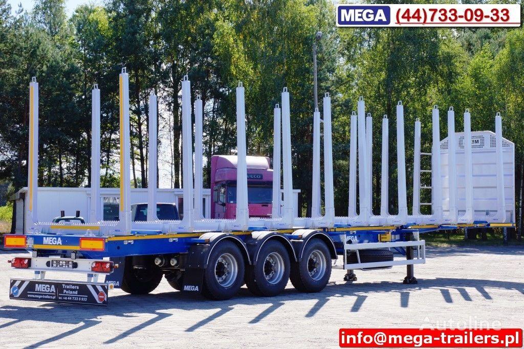 yeni MEGA 10 U STANCHION - TIMBER SEMI-TRAILER/HOLZAUFLIEGER- READY ! BERE yarı römork kereste kamyonu