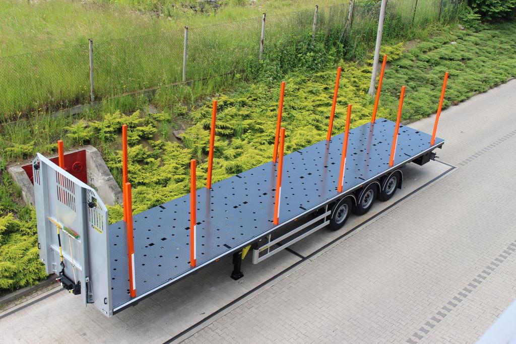 yeni ZASLAW TRAILIS 651.NL.13.PK[without stakes] yarı römork kereste kamyonu
