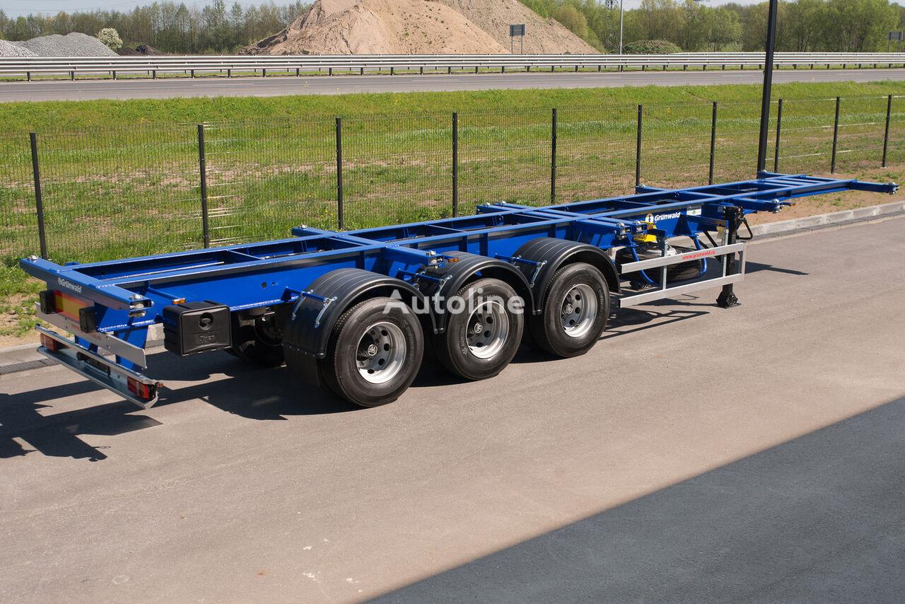 yeni GRUNWALD Versatile heavy duty container semitrailer yarı römork konteynır taşıyıcı