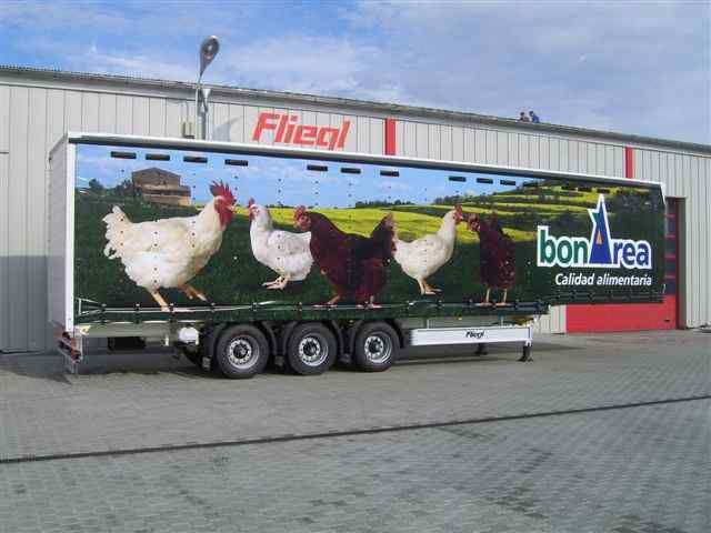 yeni FLIEGL SDS 350 Geflugel yarı römork kuşların taşınması için
