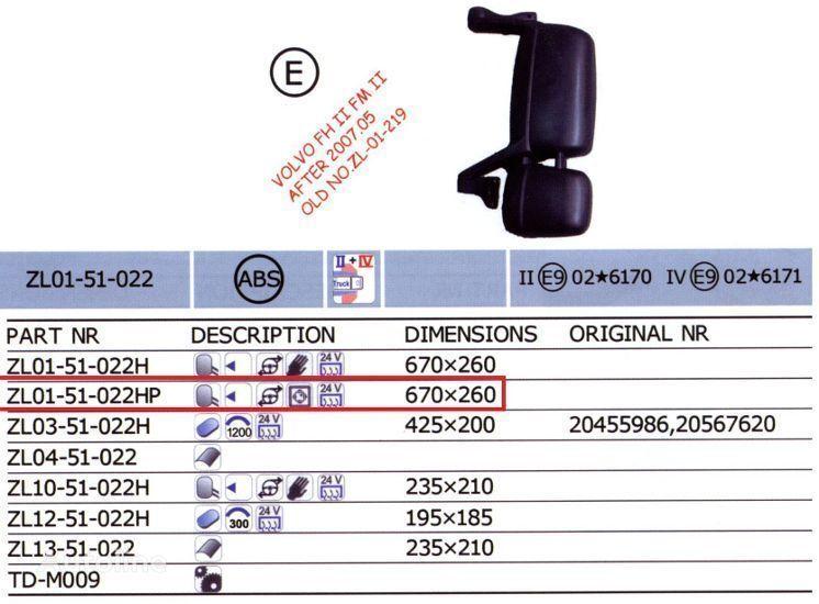 yeni VOLVO FH kamyon için 20567637,20567647 ayna