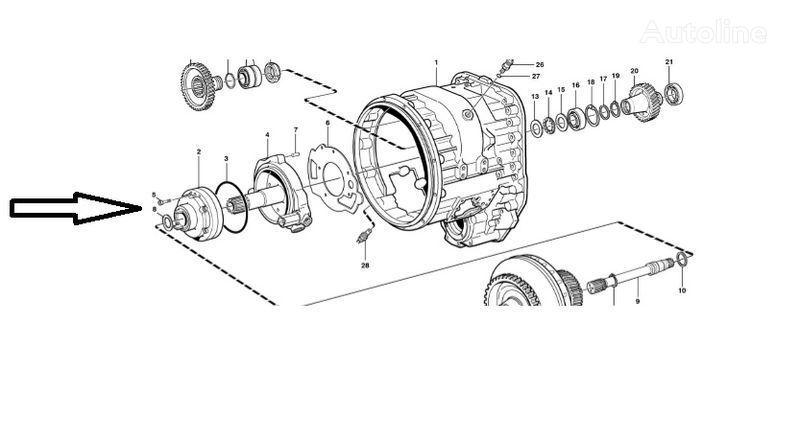yeni VOLVO  L180E ekskavatör için Pompa VOE11145264 vites