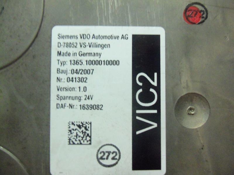 DAF 105XF tır için DAF VIC2 electronic control unit 1639082 yönetim bloğu