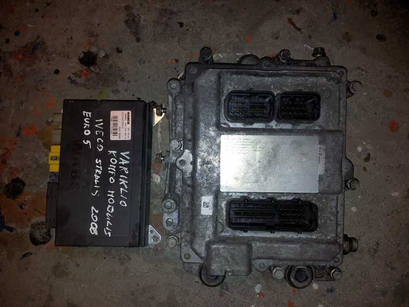 IVECO STRALIS tır için IVECO EURO5 450PS ECU 0281020048 engine computer EDC set (EDC, VCM - ELECTRONIC, chip), ignition set, 4462700020, 504122542 yönetim bloğu