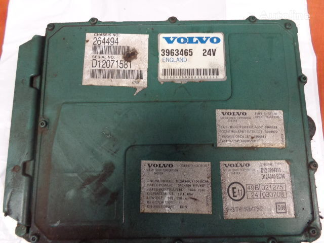 VOLVO FH12 tır için VOLVO FH12 engine control unit ECU, EDC, D12A340, 250KW, 340PS, 3963465 yönetim bloğu